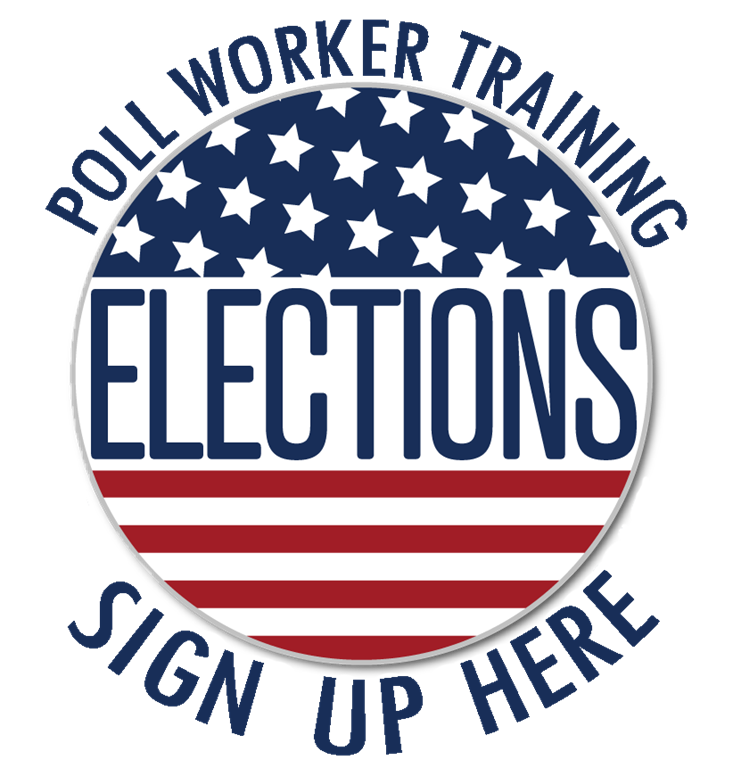 Poll Worker Training Sign Up logo