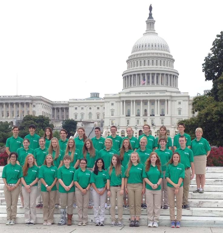 4-H member Kristen Sequeira of Ocean Township (front row, 6th from the left) represented Monmouth County as part of New Jersey's delegation at the 2014 Citizenship Washington Focus (CWF) Conference.