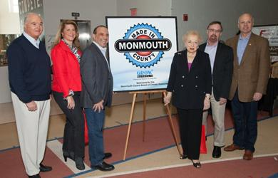 Board of Chosen Freeholders with Monmouth University President Dr. Paul Brown at the 2015 Made in Monmouth
