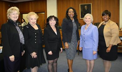 "Freeholder Director Burry and County Surrogate Peters joined an esteemed group of women to speak on a panel titled ""Trailblazing Women – Breaking the Glass Ceiling"" in honor of Women's History Month."